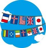 晴天と万国旗.jpg